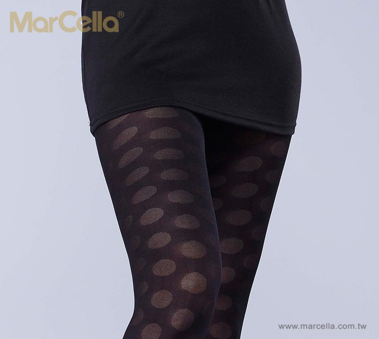 【玛榭】复古圆点花纹裤袜/丝袜 (ma-9906#05)
